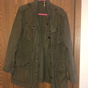 Army green Free People jacket